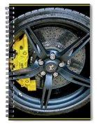 Ferrari Wheel Spiral Notebook