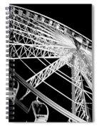 Ferris Wheel Against Black Sky Spiral Notebook