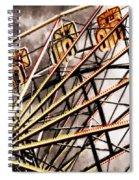 Ferris Wheel At Sunset Spiral Notebook