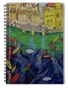 Ferry To The City Of Gold II Spiral Notebook