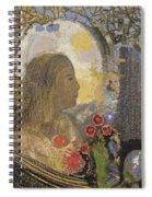 Fertility. Woman In Flowers Spiral Notebook