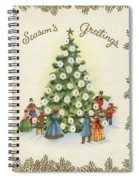 Festive Christmas Tree In A Town Square Spiral Notebook