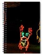 Festive Crab Decorations Spiral Notebook