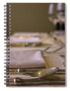 Festive Table Setting For A Formal Dinner  Spiral Notebook