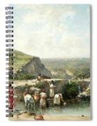 Fetching Water. Algeria Spiral Notebook