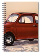 Fiat 500 1957 Painting Spiral Notebook
