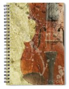 Fiddle In Grunge Style Spiral Notebook