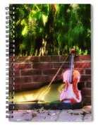 Fiddle On The Garden Wall Spiral Notebook