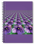 Field Of African Violets Spiral Notebook