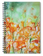 Field Of California Poppies Spiral Notebook