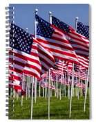 Field Of Flags For Heroes Spiral Notebook