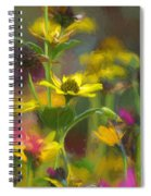 Field Of Flowers Paint Spiral Notebook