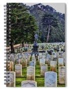 Field Of Heroes Spiral Notebook