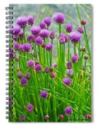 Field Of Onions  Spiral Notebook