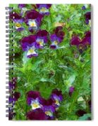 Field Of Pansy's Spiral Notebook