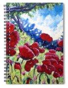 Field Of Poppies 02 Spiral Notebook