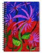 Field Of Purple Flowers Spiral Notebook
