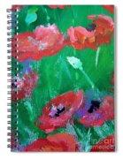 Field Of Red 2 Spiral Notebook