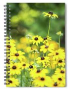Field Of Smiles Spiral Notebook