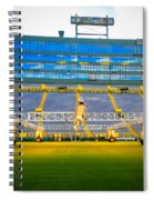 Field View Of Lambeau Spiral Notebook