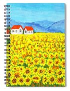 Field With Sunflowers Spiral Notebook