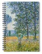Fields In Spring, 1887 Spiral Notebook