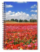 Fields Of Flowers At Nir Banim Spiral Notebook