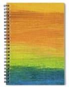 Fields Of Gold 1 - Abstract Summer Landscape Painting Spiral Notebook