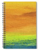 Fields Of Gold 2 - Abstract Summer Landscape Painting Spiral Notebook