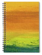 Fields Of Gold 3 - Abstract Summer Landscape Painting Spiral Notebook