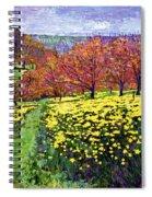 Fields Of Golden Daffodils Spiral Notebook