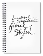 Fierce And Styled Black- Art By Linda Woods Spiral Notebook