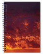 Fiery Clouds Spiral Notebook