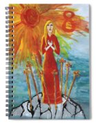 Fiery Eight Of Swords Illustrated Spiral Notebook