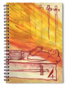 Fiery Four Of Swords Illustrated Spiral Notebook