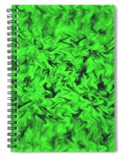 Fiery Green Spiral Notebook