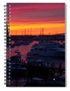 Fiery Harbor Spiral Notebook