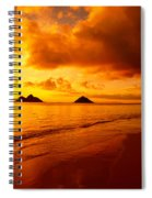 Fiery Lanikai Beach Spiral Notebook