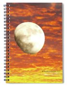 Fiery Moon Spiral Notebook