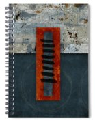Fiery Red And Indigo One Of Two Spiral Notebook