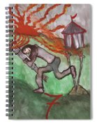 Fiery Seven Of Swords Illustrated Spiral Notebook