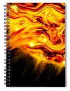 Fiery Sun Erupting With M1.7 Class Solar Flare Spiral Notebook