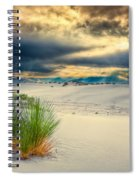 Fiery Sunrise At White Sands Spiral Notebook