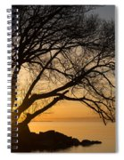 Fiery Sunrise - Like A Golden Portal To Another World Spiral Notebook