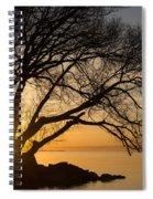 Fiery Sunrise - Like A Golden Portal To Another World Spiral Notebook
