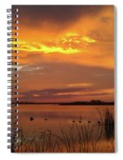 Fiery Sunset Spiral Notebook