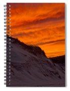 Fiery Sunset Over The Dunes Spiral Notebook