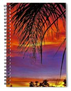Fiery Sunset With Palm Tree Spiral Notebook