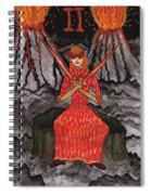 Fiery Two Of Swords Illustrated Spiral Notebook