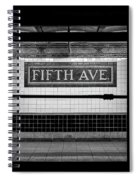 Fifth Ave Subway Spiral Notebook